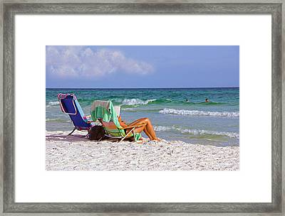 Framed Print featuring the photograph The Emerald Coast by Charles Beeler