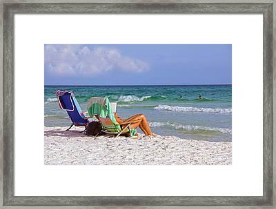 The Emerald Coast Framed Print