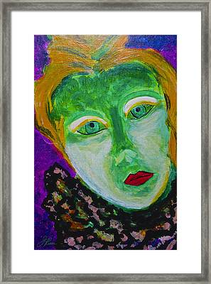 Framed Print featuring the painting The Emerald Lady by Joan Reese