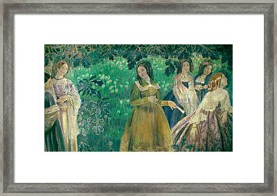 The Emerald Necklace Framed Print