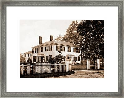 The Emerson House, Concord, Emerson House Concord Framed Print