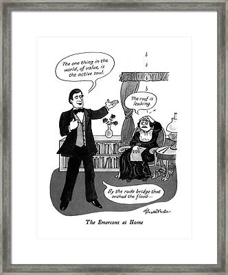 The Emersons At Home Framed Print by J.B. Handelsman