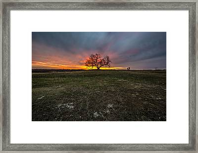 The Eminija Mounds Dusk Version Framed Print