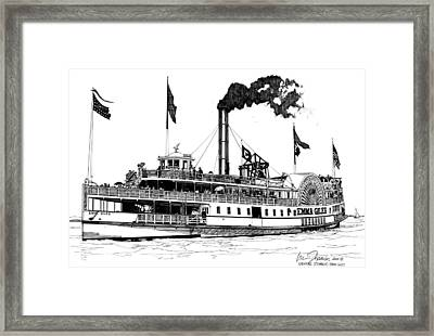 Framed Print featuring the drawing The Emma Giles by Ira Shander