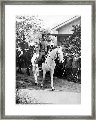 The Emperor Hirohito Of Japan Framed Print by Underwood Archives