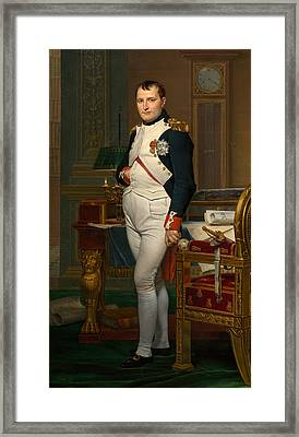 The Emperor Napoleon In His Study At The Tuileries Framed Print