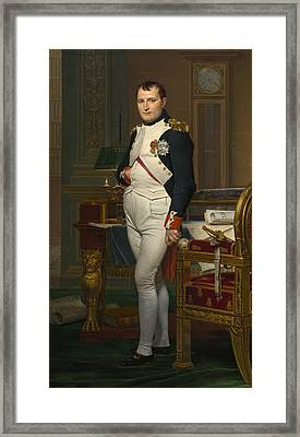 The Emperor Napoleon In His Study Framed Print by Mountain Dreams