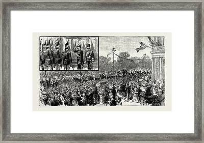 The Emperor Of Austrias Visit To Berlin Framed Print