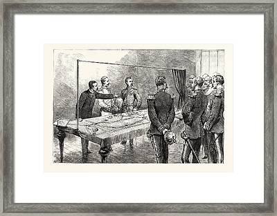 The Emperor Of Germany Inspecting The New English War Game Framed Print by German School