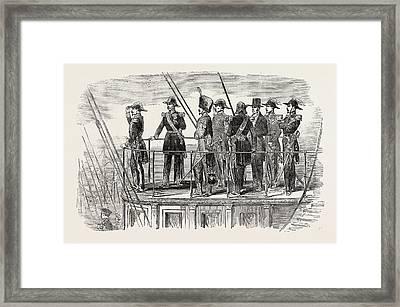 The Emperor On Board The Screw Steam-yacht La Reine Framed Print