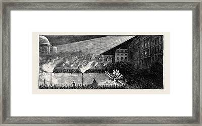 The Emperors At Berlin The Torchlight Tattoo Framed Print by German School