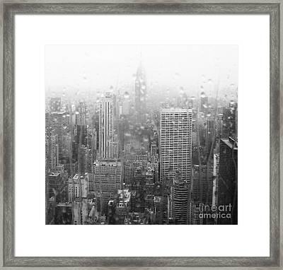 The Empire In The Rain Framed Print by Alice Gardoni