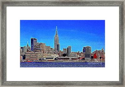 The Empire State Building And The New York Skyline 20130430 Framed Print by Wingsdomain Art and Photography
