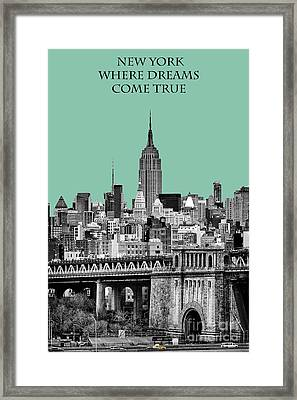The Empire State Building Pantone Jade Framed Print