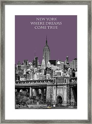 The Empire State Building Plum Framed Print by John Farnan