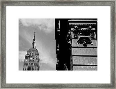 Framed Print featuring the photograph The Empire State Building by Steven Macanka