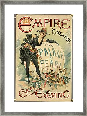 The Empire Theatre Framed Print by British Library
