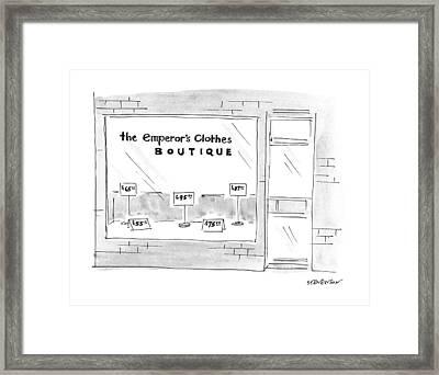The Emporer's Clothes Boutique Framed Print