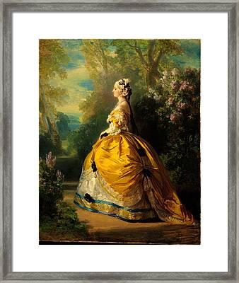 The Empress Eug�nie Eug�nie De Montijo Framed Print