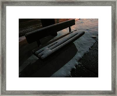 The Empty Bench Framed Print by Guy Ricketts