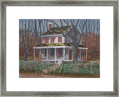Framed Print featuring the painting The Empty Chair by Tony Caviston