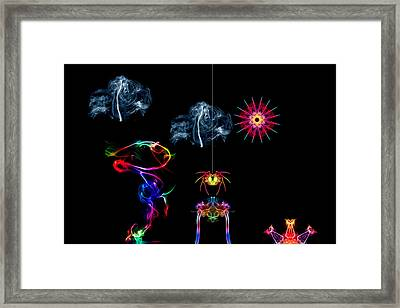 The Enchanted Smoke Spider Framed Print by Steve Purnell