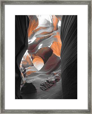 The Enchantment Of A Slot Canyon Framed Print by Clay and Gill Ross