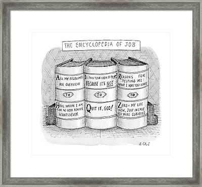 The Encyclopedia Of Job Framed Print