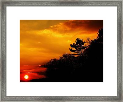 The End Framed Print by Christian Rooney