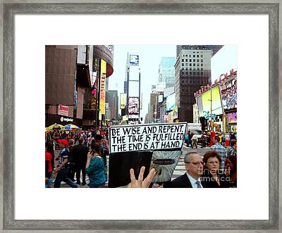 The End Is At Hand Framed Print by Ed Weidman