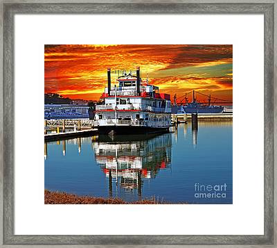 The End Of A Beautiful Day In The San Francisco Bay Framed Print by Jim Fitzpatrick