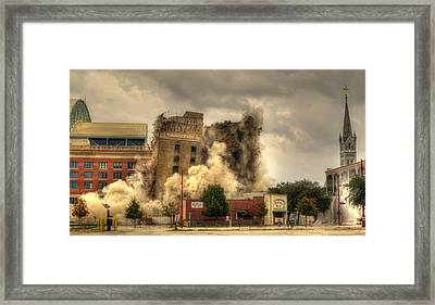 The End Of An Era Framed Print by David Morefield