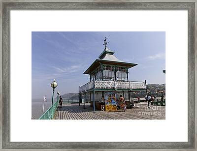 The End Of Clevedon Pier Somerset England Framed Print by Robert Preston