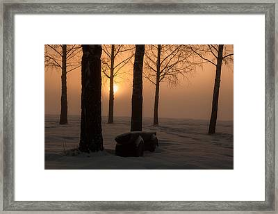 The End Of Day 2 Framed Print by Thomas Berger