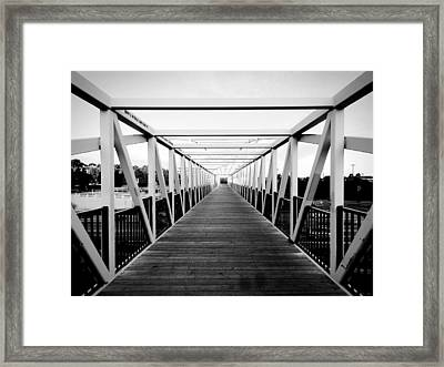The End Of The Bridge Framed Print