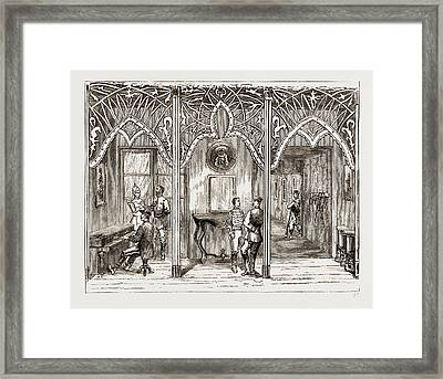 The End Of The Carlist War, 1876 Room In The Palace Framed Print by Litz Collection