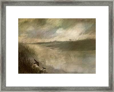 The End Of The Day Sheep Framed Print