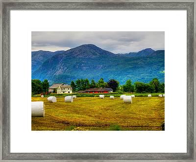 The End Of The Harvest Framed Print