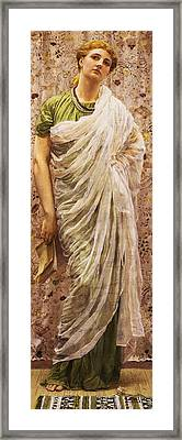 The End Of The Story Framed Print by Albert Joseph Moore