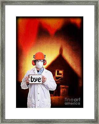 The End Of The World Framed Print by Edward Fielding