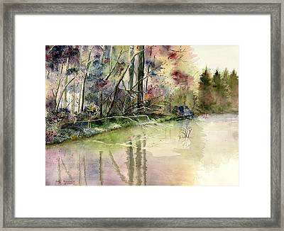 The End Of Wonderful Day Framed Print
