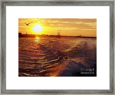 The End To A Fishing Day Framed Print
