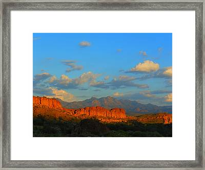 The Endangered West Framed Print