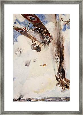 The Enemy Crashed To The Earth Framed Print by Cyrus Cuneo