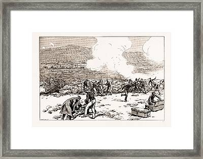 The Engagement At Mati Greek Artillery Making Good Practice Framed Print by Litz Collection