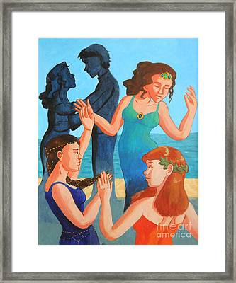 The Engagement Dance Framed Print by Whitney Morton