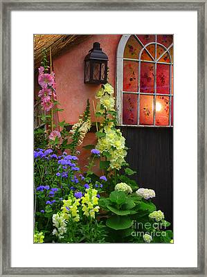 The English Cottage Window Framed Print by Dora Sofia Caputo Photographic Art and Design