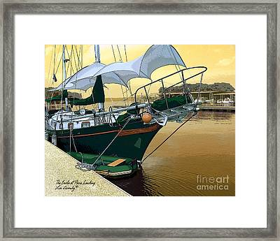 The Enola At Paris Landing Framed Print
