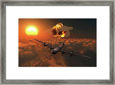 The Enola Gay B-29 Superfortres Nuclear Framed Print