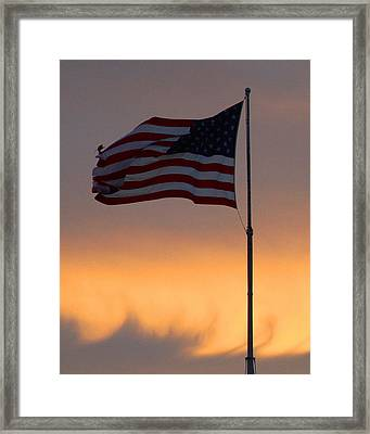 The Ensign Framed Print by Dana Gage